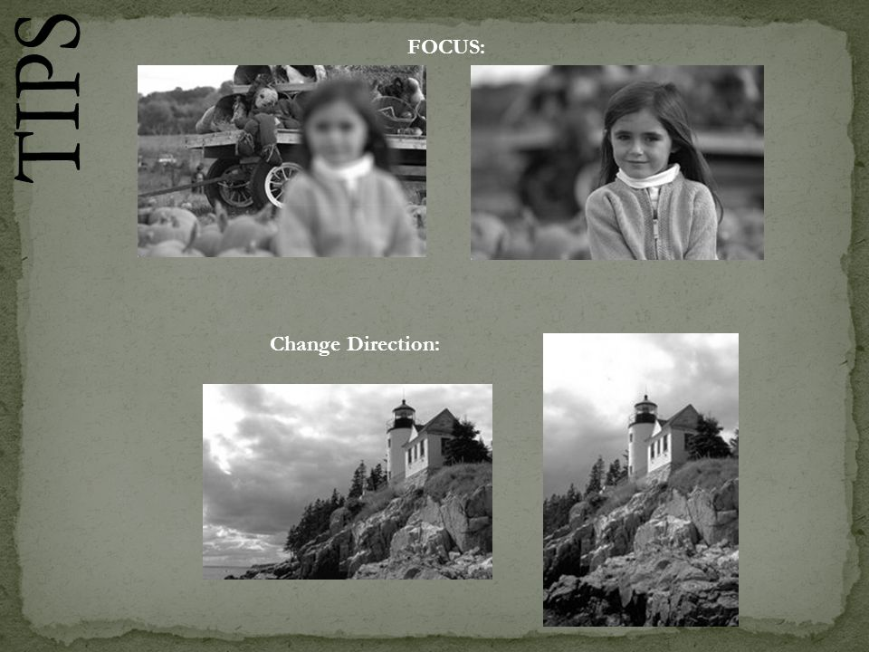 FOCUS: TIPS Change Direction: