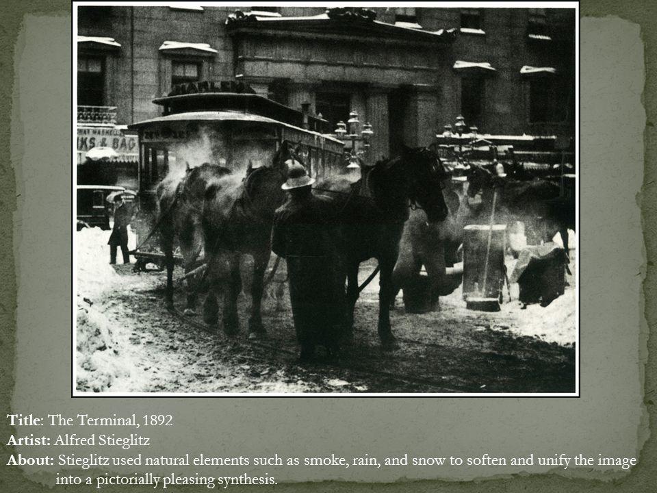 Title: The Terminal, 1892 Artist: Alfred Stieglitz