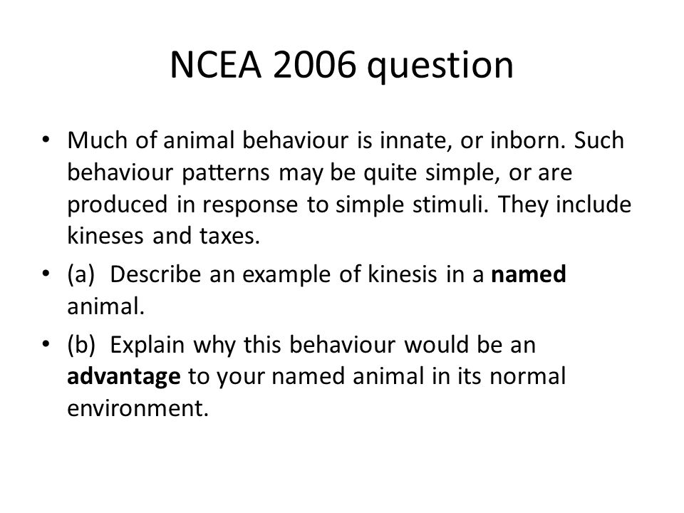NCEA 2006 question