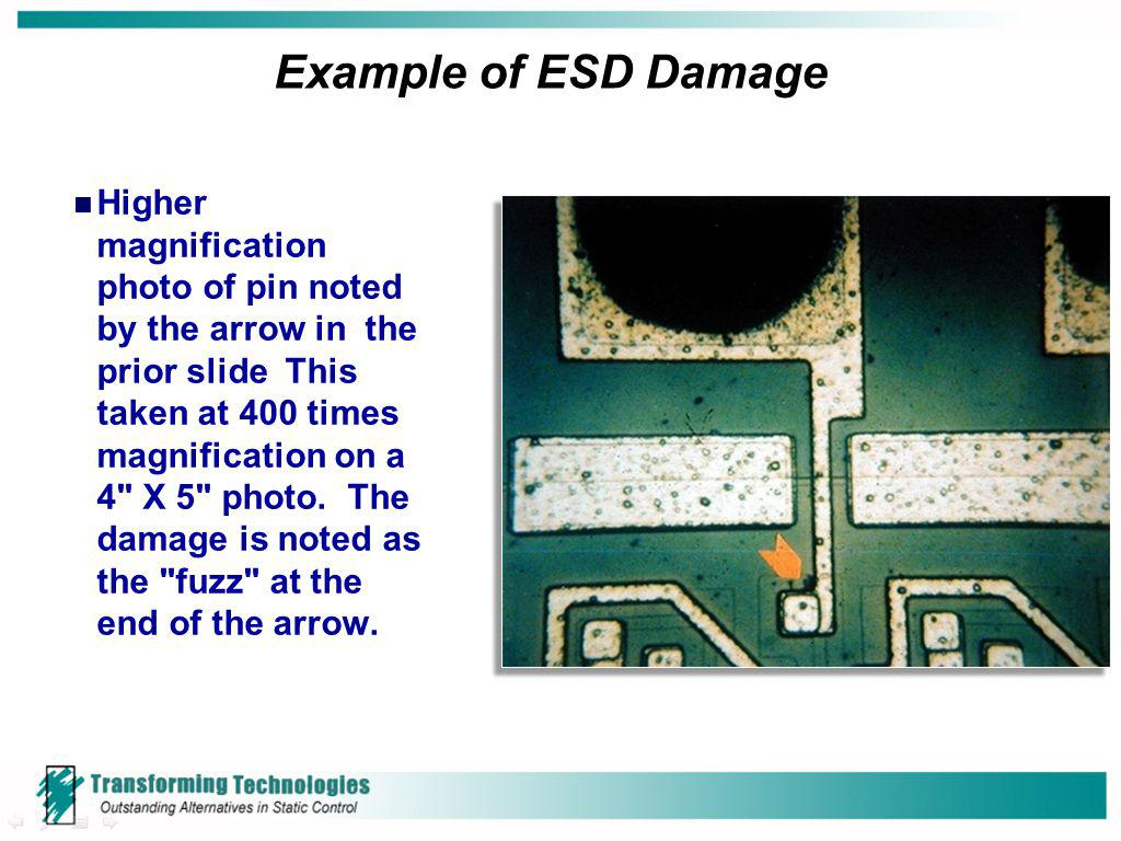 Example of ESD Damage