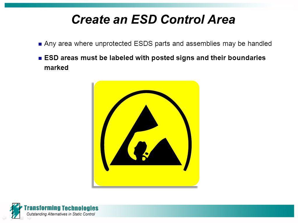 Create an ESD Control Area