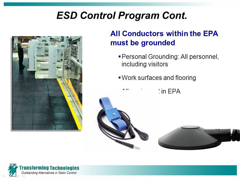 ESD Control Program Cont.