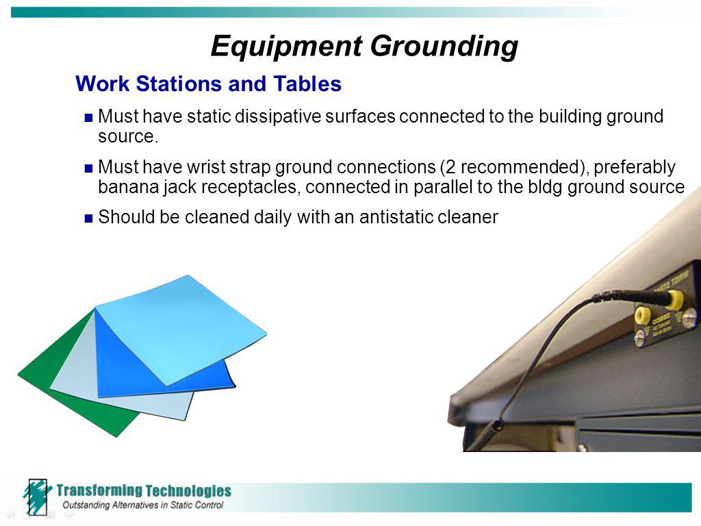 Equipment Grounding Work Stations and Tables