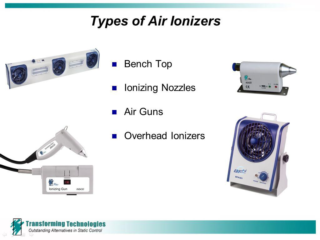 Types of Air Ionizers Bench Top Ionizing Nozzles Air Guns