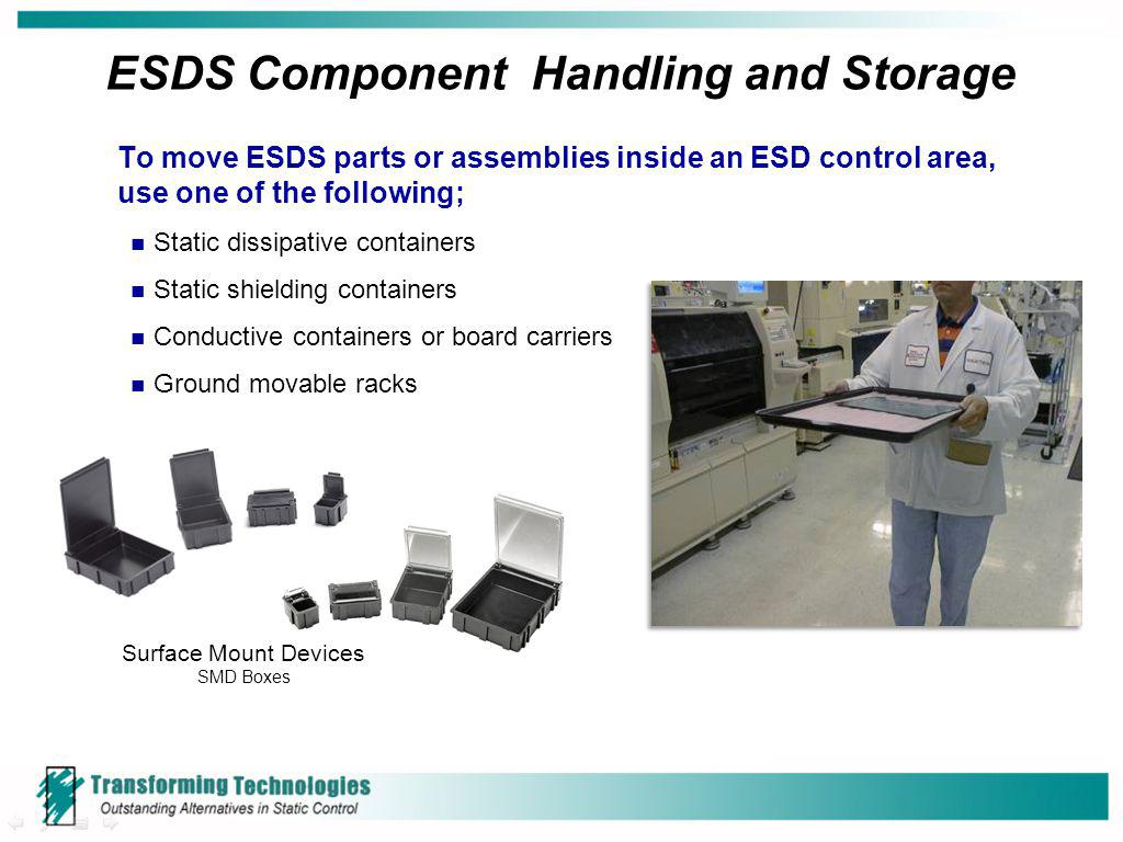 ESDS Component Handling and Storage