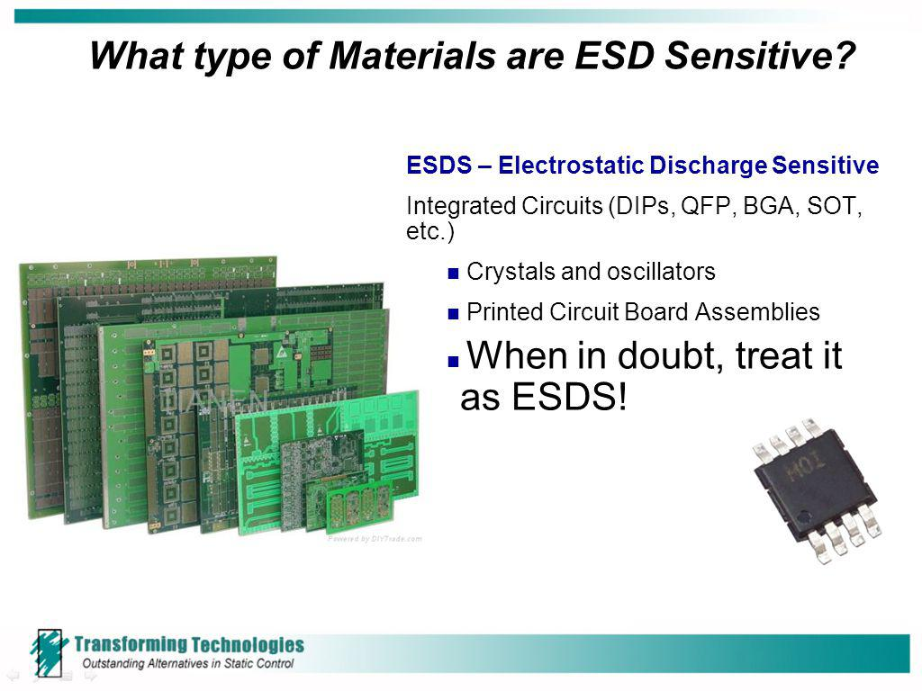 What type of Materials are ESD Sensitive