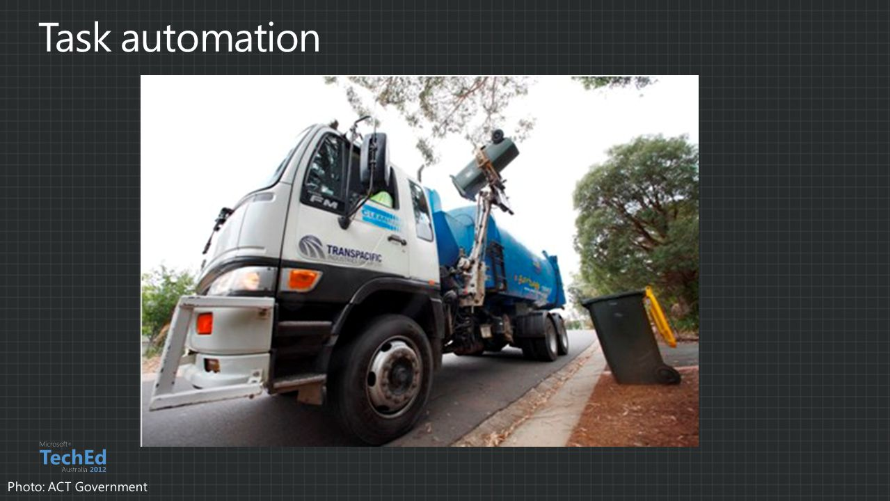 Task automation Photo: ACT Government