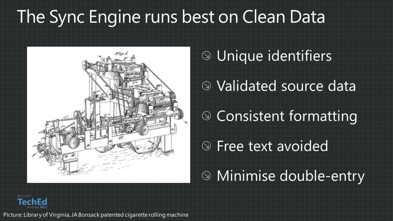 The Sync Engine runs best on Clean Data