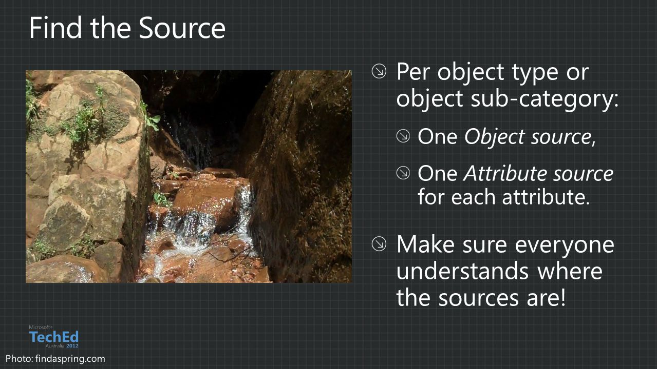 Find the Source Per object type or object sub-category: