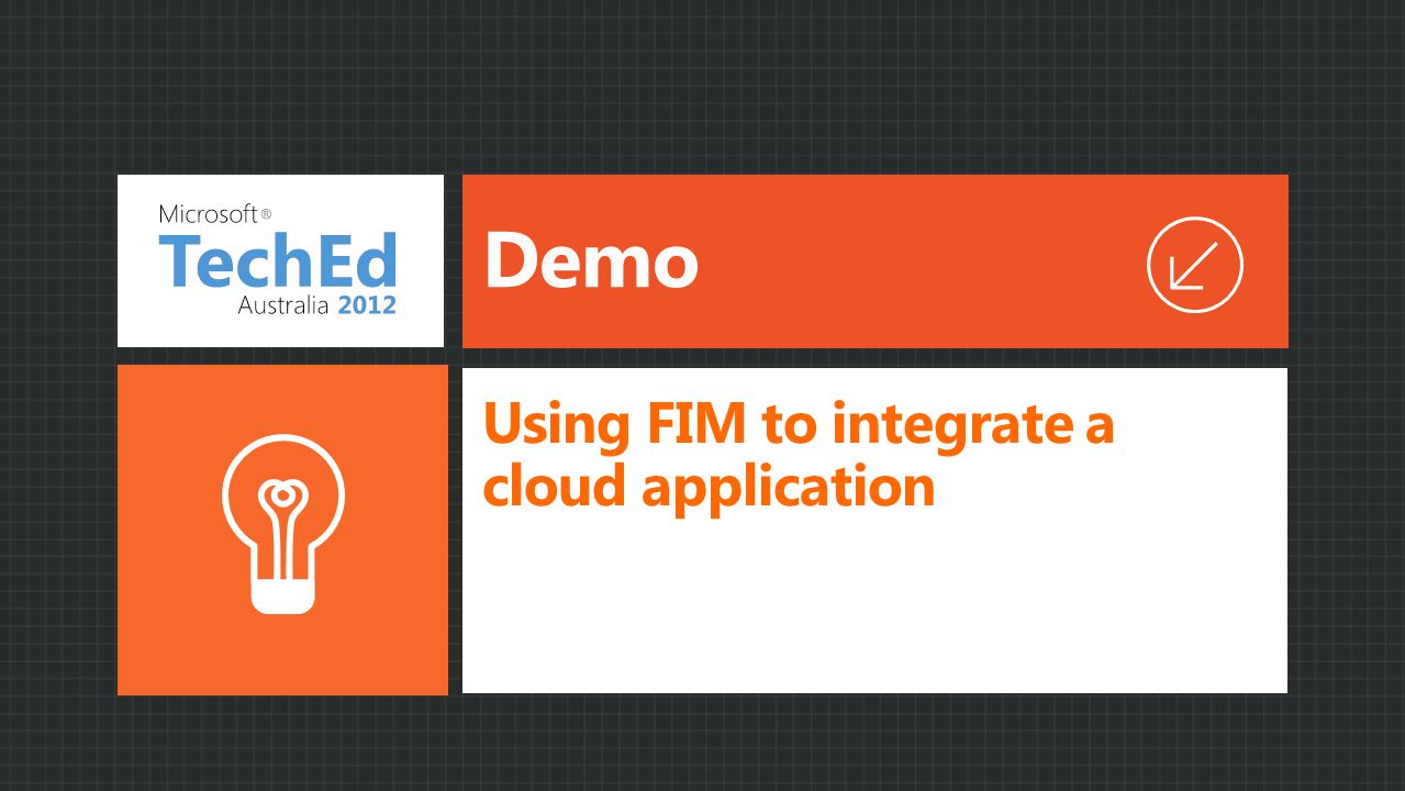 Using FIM to integrate a cloud application