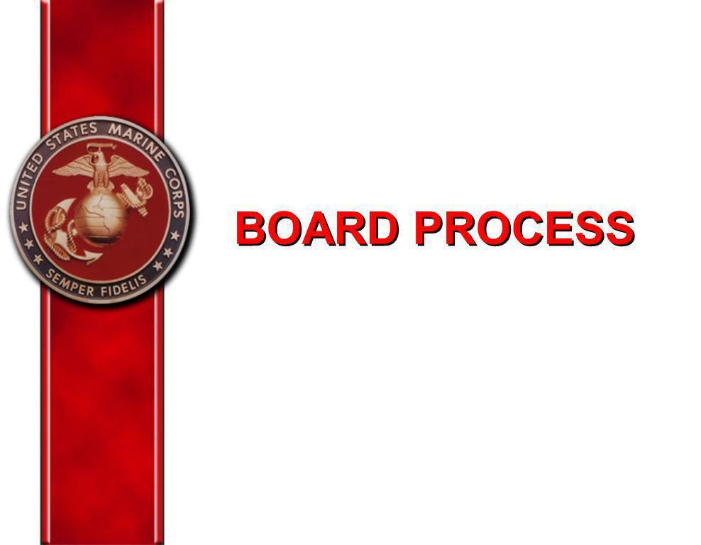 BOARD PROCESS Maj Taylor