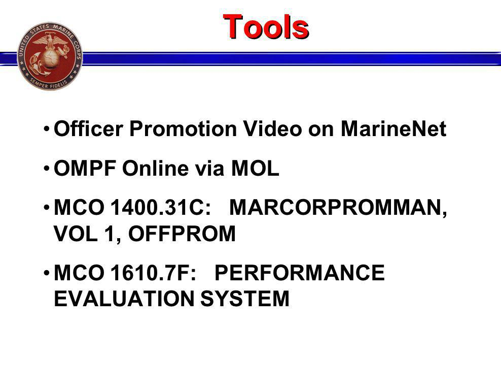 Tools Officer Promotion Video on MarineNet OMPF Online via MOL