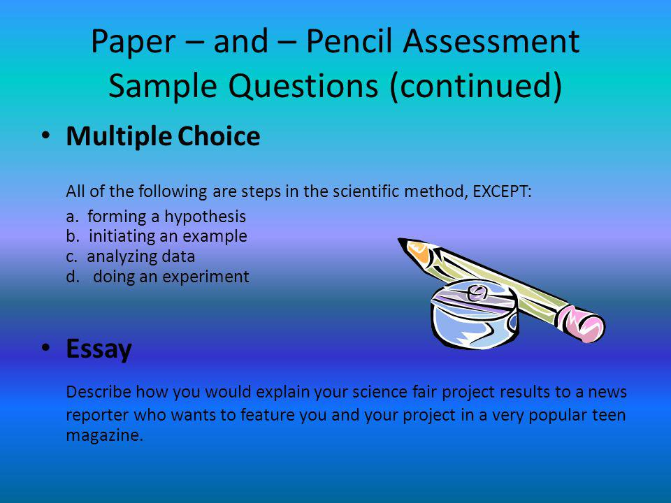 Assessment Essay Sample