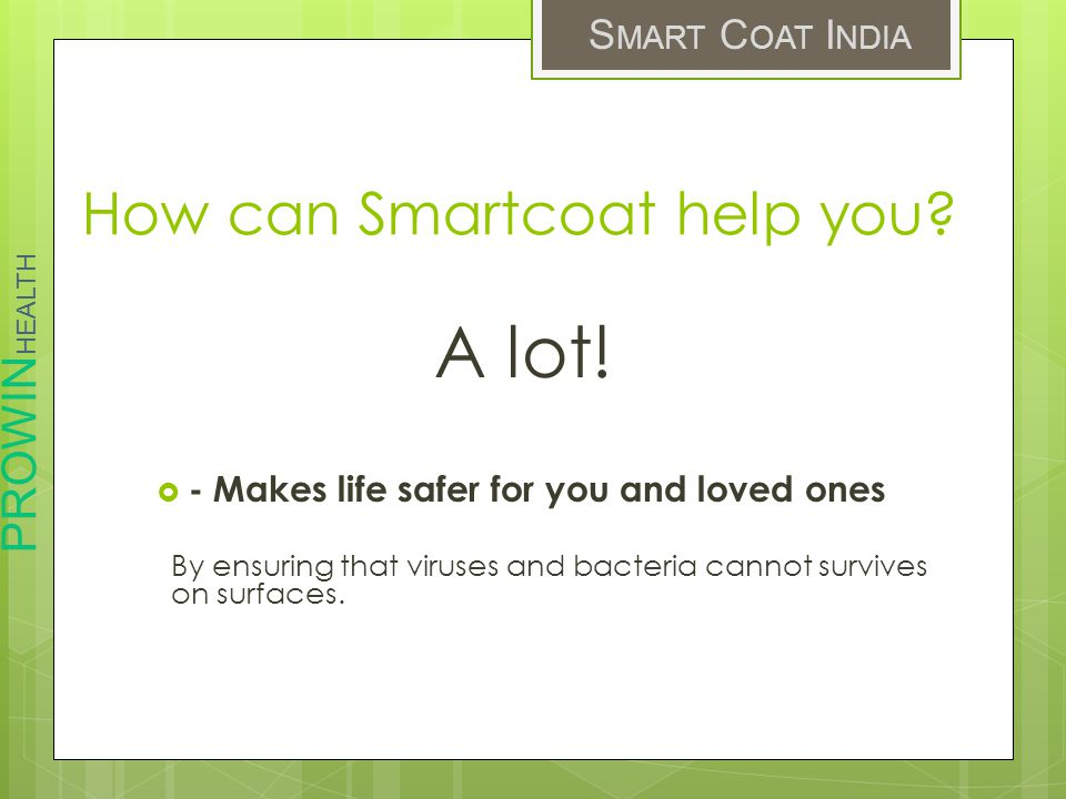 How can Smartcoat help you