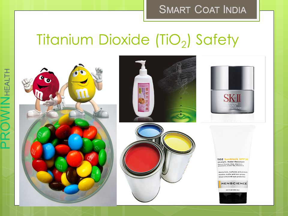 Titanium Dioxide (TiO2) Safety