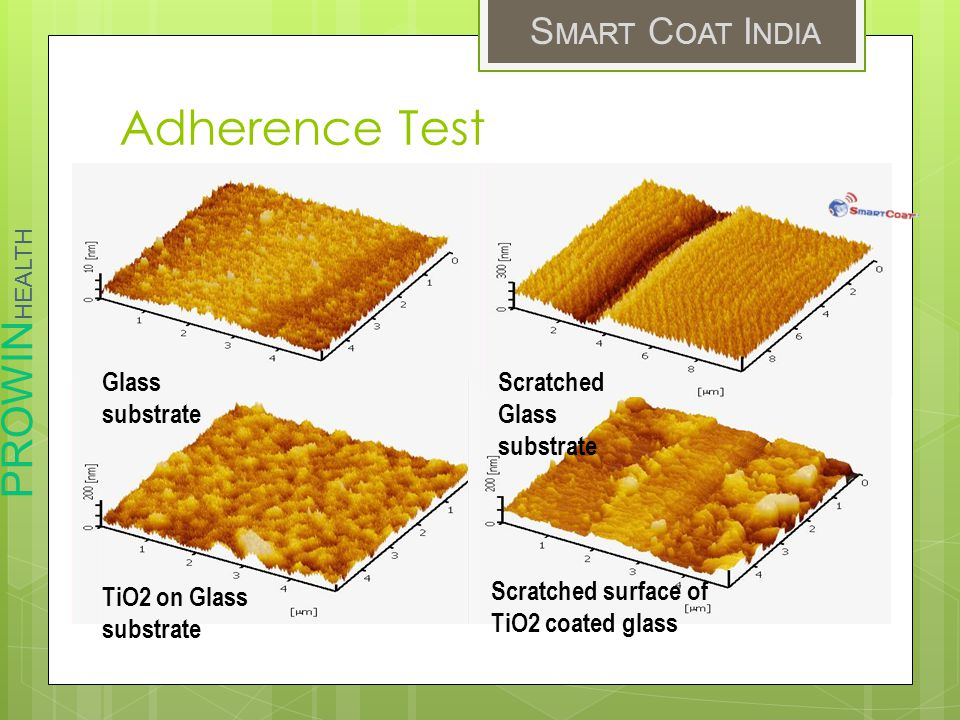 Adherence Test NanoUSM Nanoyo Glass substrate