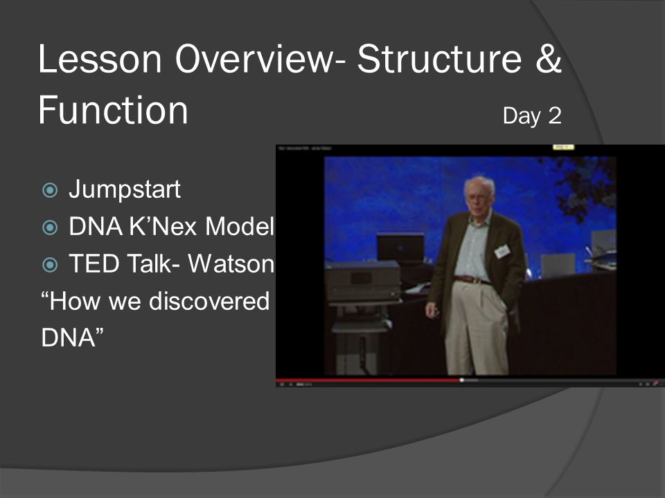 Lesson Overview- Structure & Function Day 2