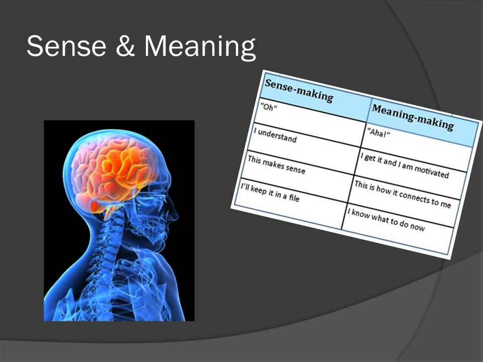 Sense & Meaning