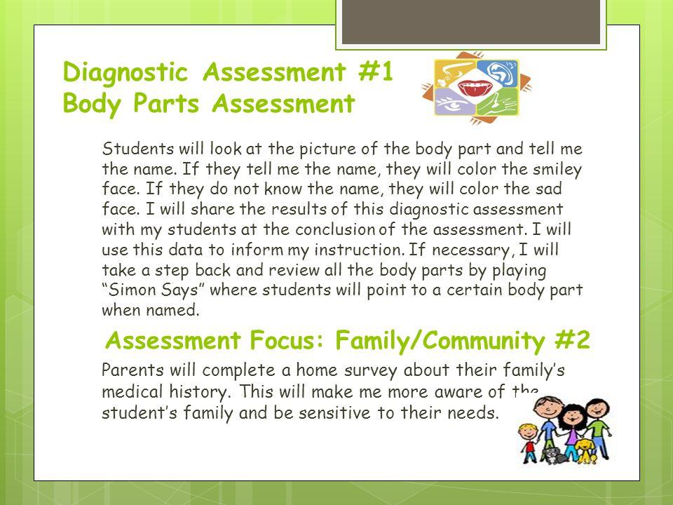 Diagnostic Assessment #1 Body Parts Assessment