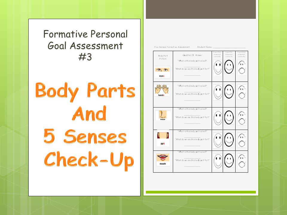 Formative Personal Goal Assessment #3