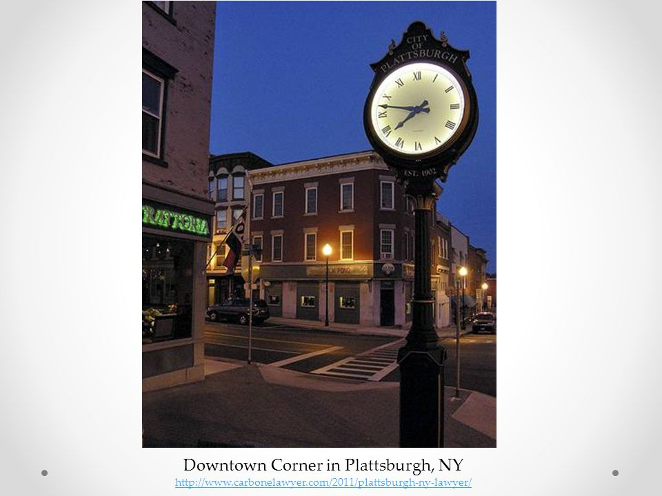 Downtown Corner in Plattsburgh, NY