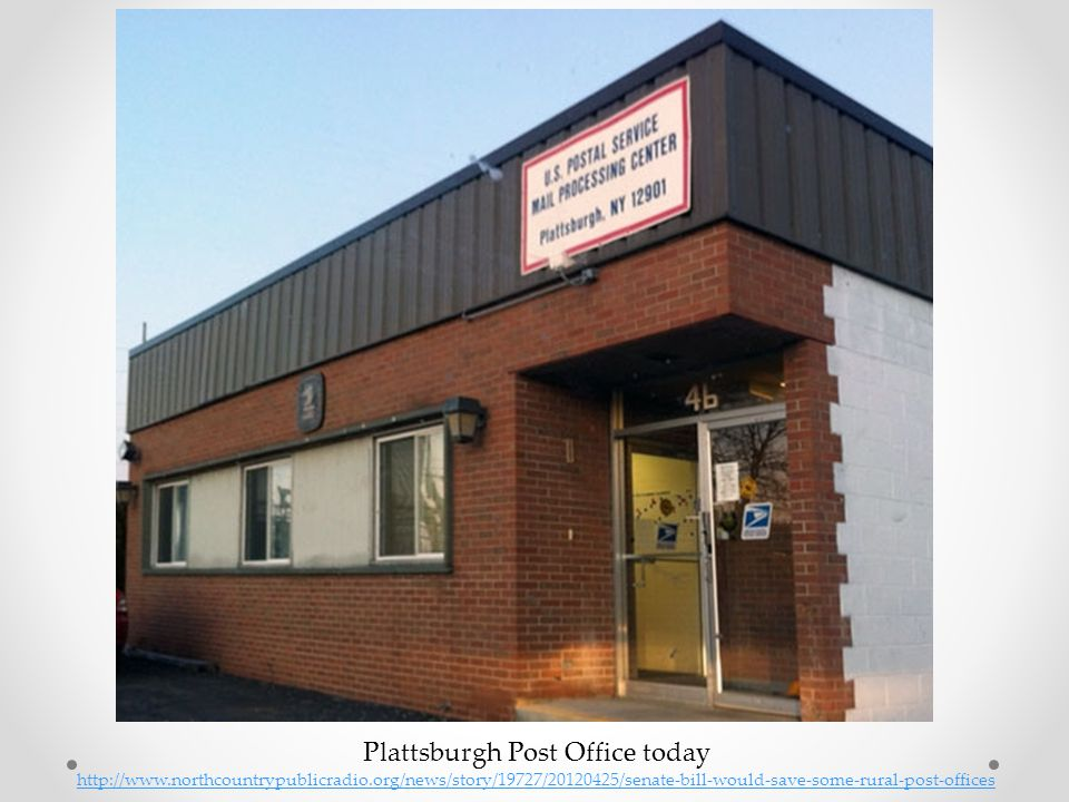Plattsburgh Post Office today