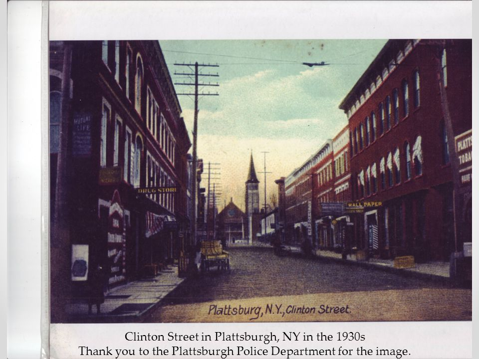 Clinton Street in Plattsburgh, NY in the 1930s