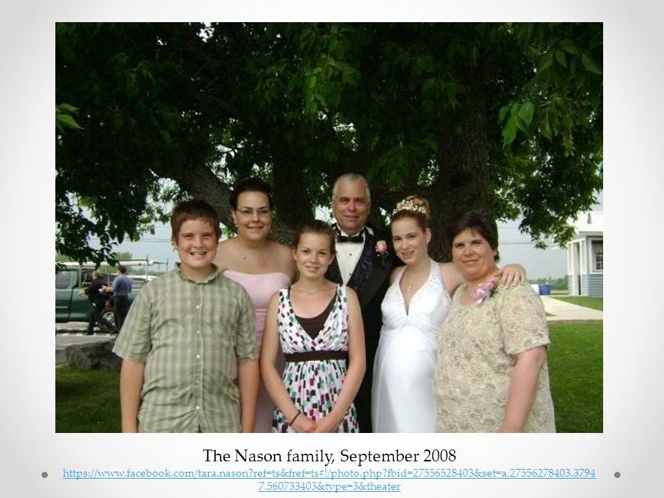 The Nason family, September 2008