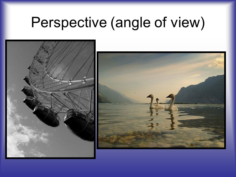 Perspective (angle of view)