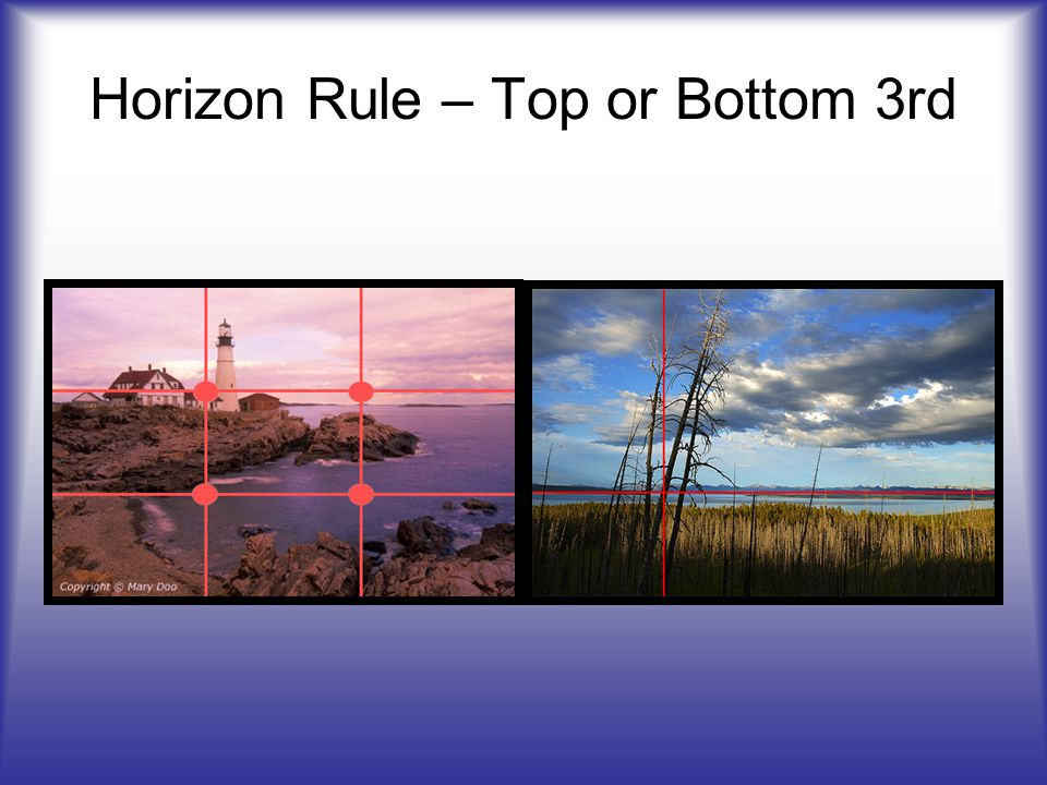 Horizon Rule – Top or Bottom 3rd