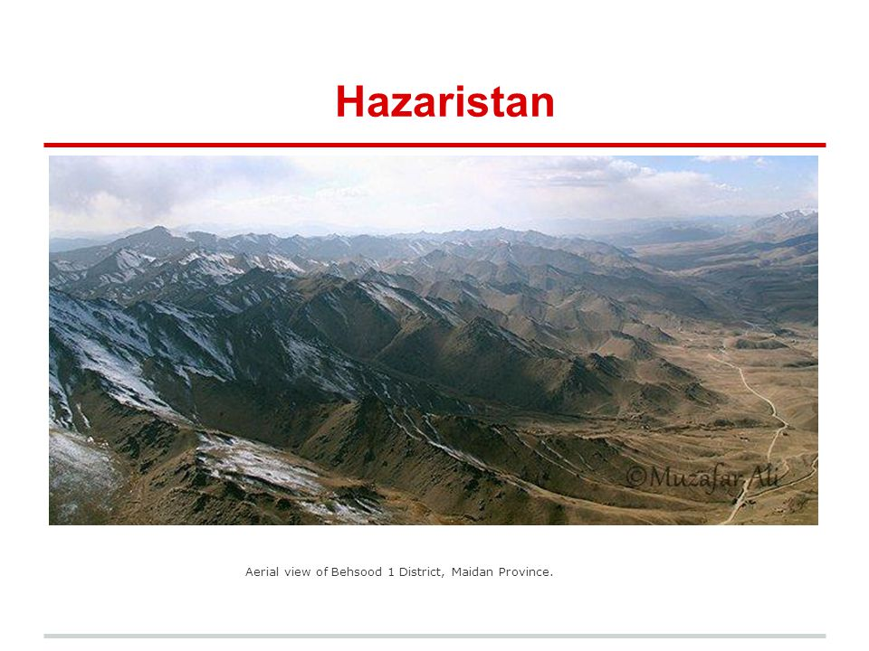 Hazaristan Aerial view of Behsood 1 District, Maidan Province.