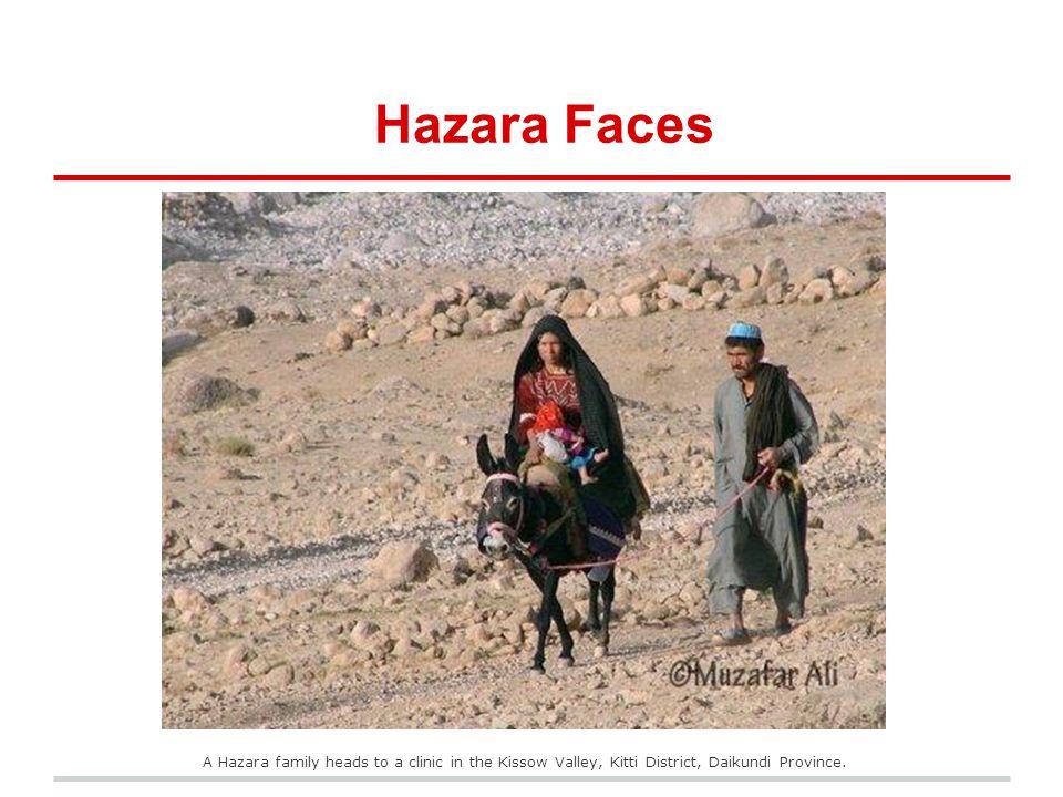 Hazara Faces A Hazara family heads to a clinic in the Kissow Valley, Kitti District, Daikundi Province.