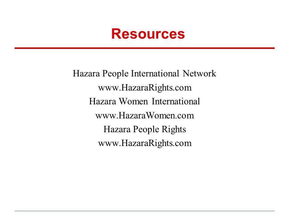 Resources Hazara People International Network www.HazaraRights.com