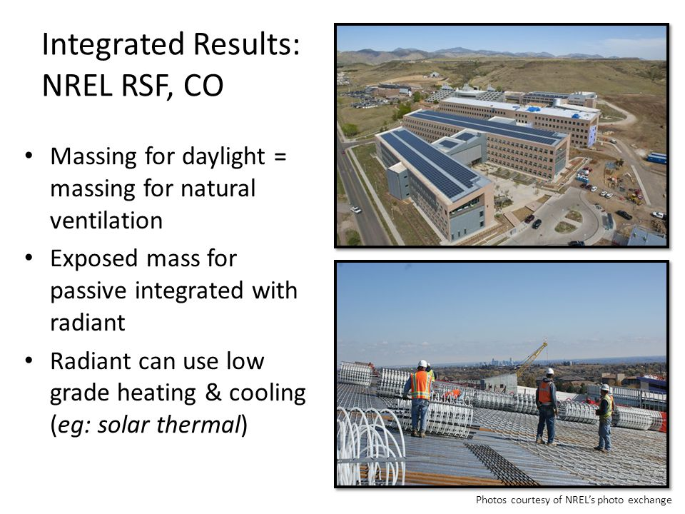 Integrated Results: NREL RSF, CO