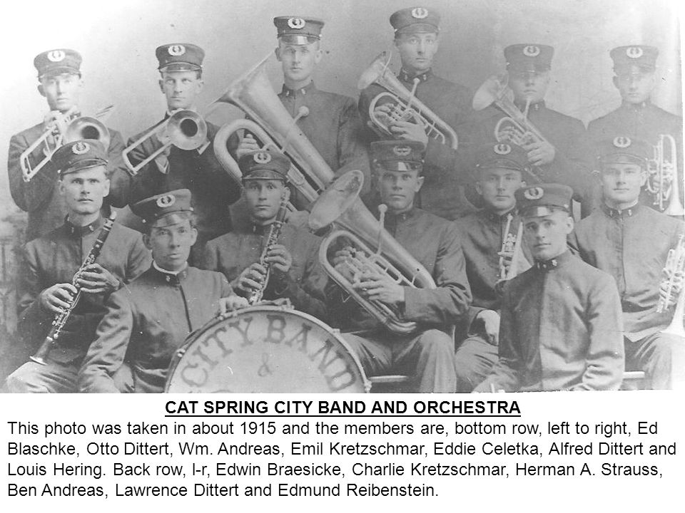 CAT SPRING CITY BAND AND ORCHESTRA