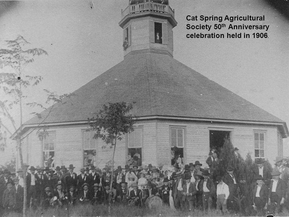 Cat Spring Agricultural Society 50th Anniversary celebration held in 1906.