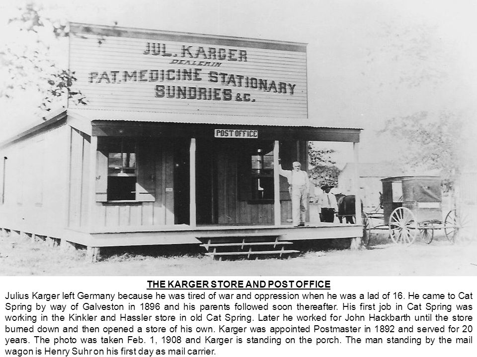 THE KARGER STORE AND POST OFFICE