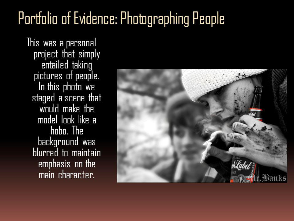 Portfolio of Evidence: Photographing People