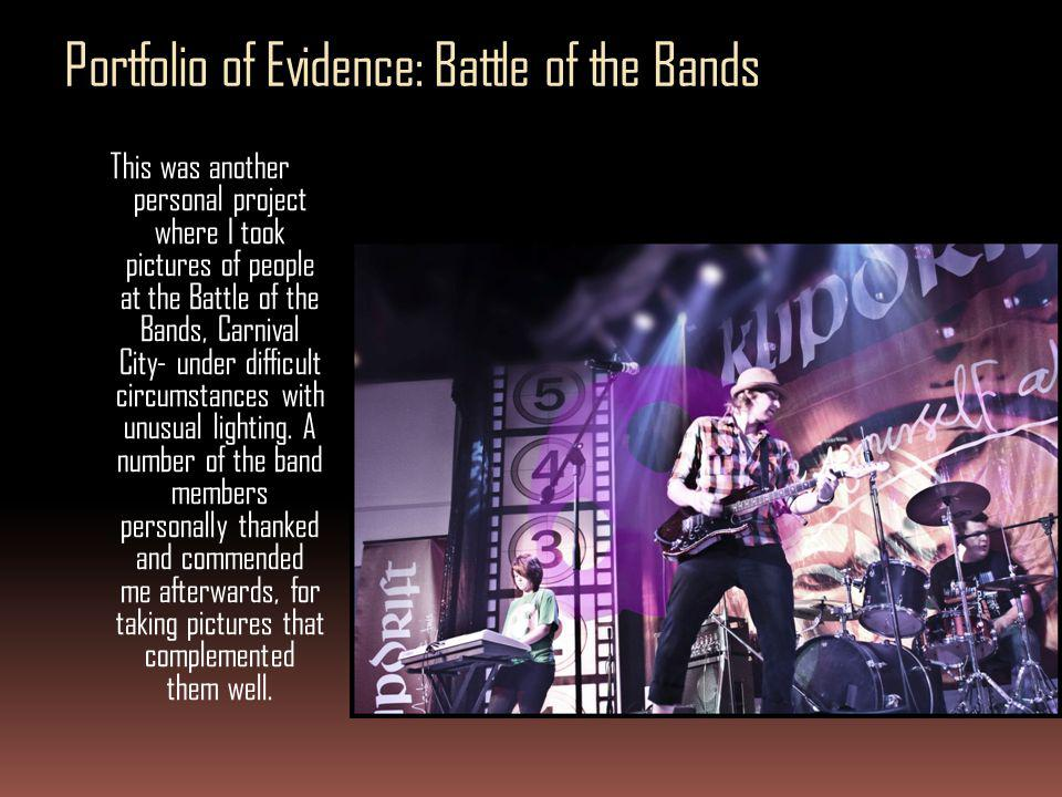 Portfolio of Evidence: Battle of the Bands