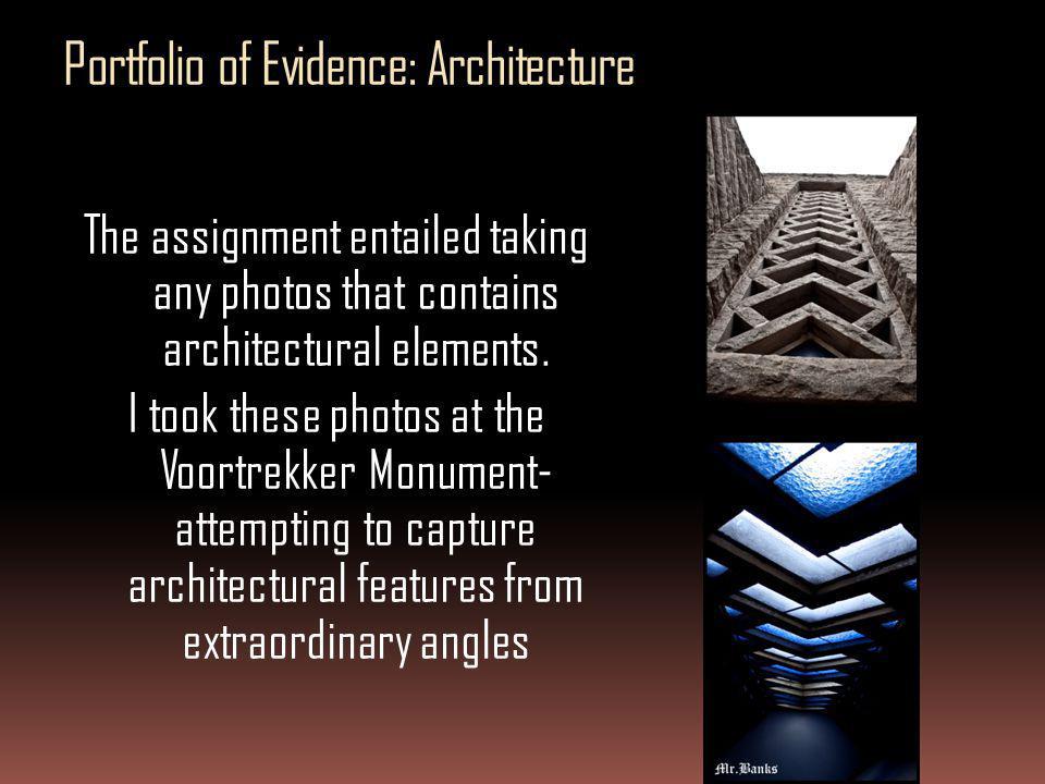 Portfolio of Evidence: Architecture