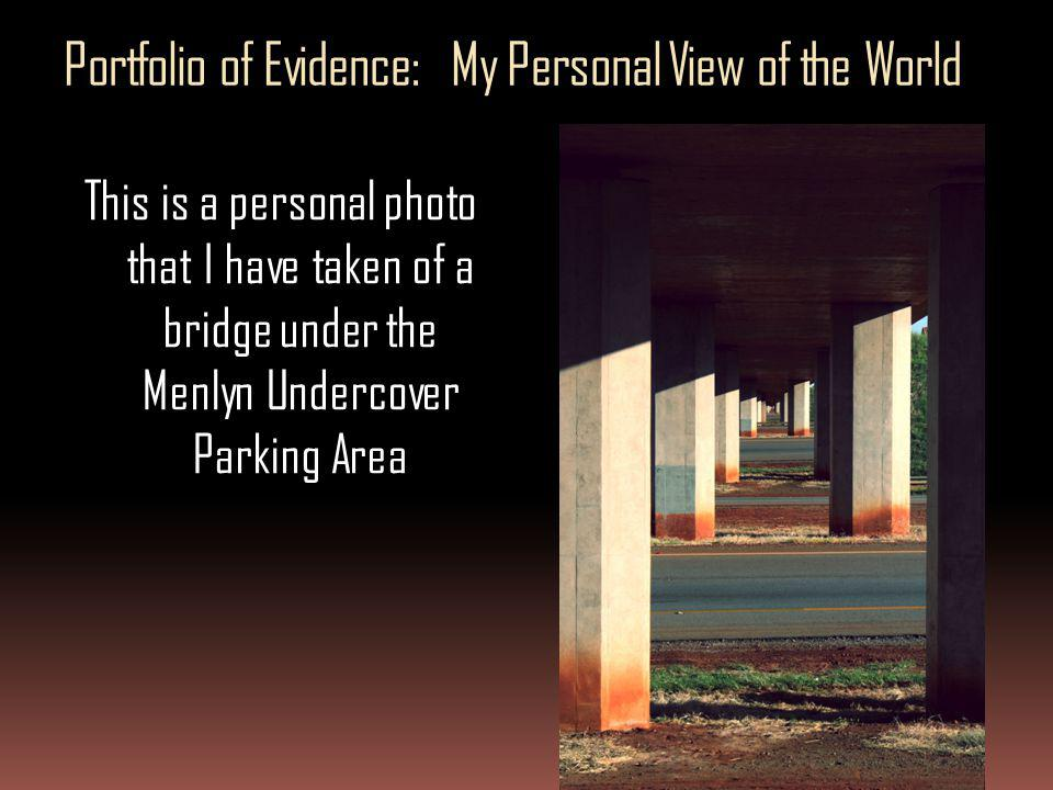 Portfolio of Evidence: My Personal View of the World