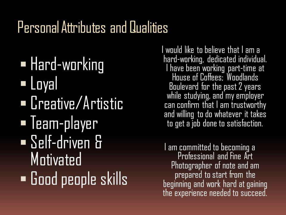 Personal Attributes and Qualities