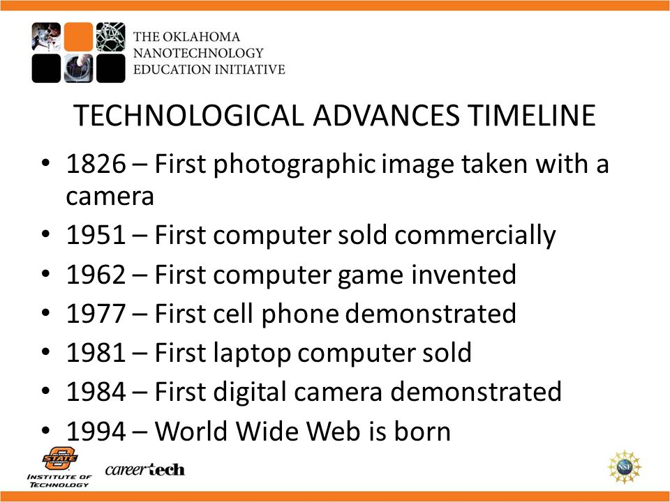 TECHNOLOGICAL ADVANCES TIMELINE
