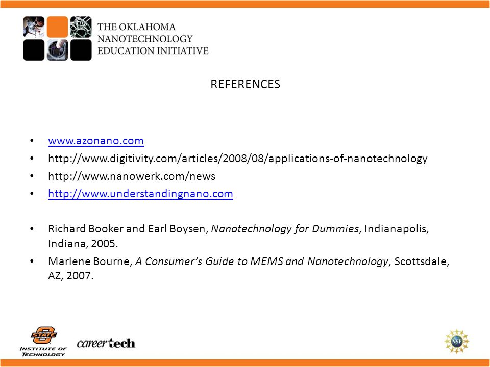 REFERENCES www.azonano.com