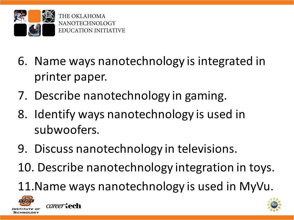 Name ways nanotechnology is integrated in printer paper.