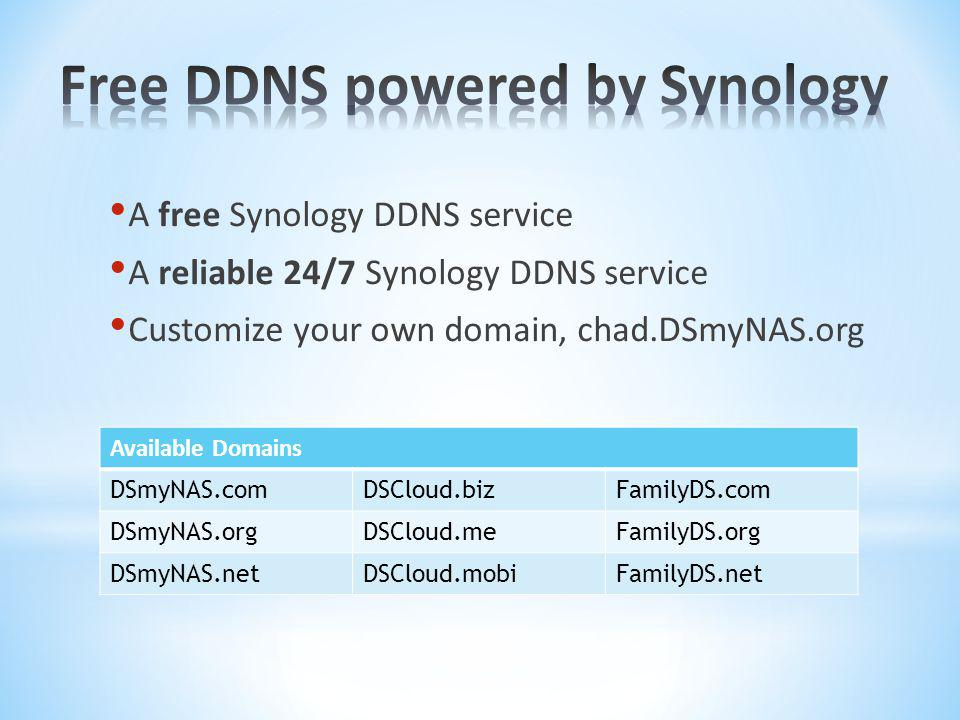Free DDNS powered by Synology