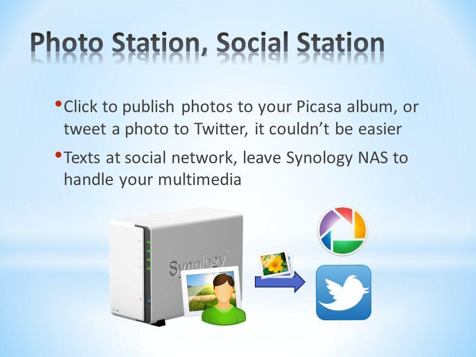 Photo Station, Social Station