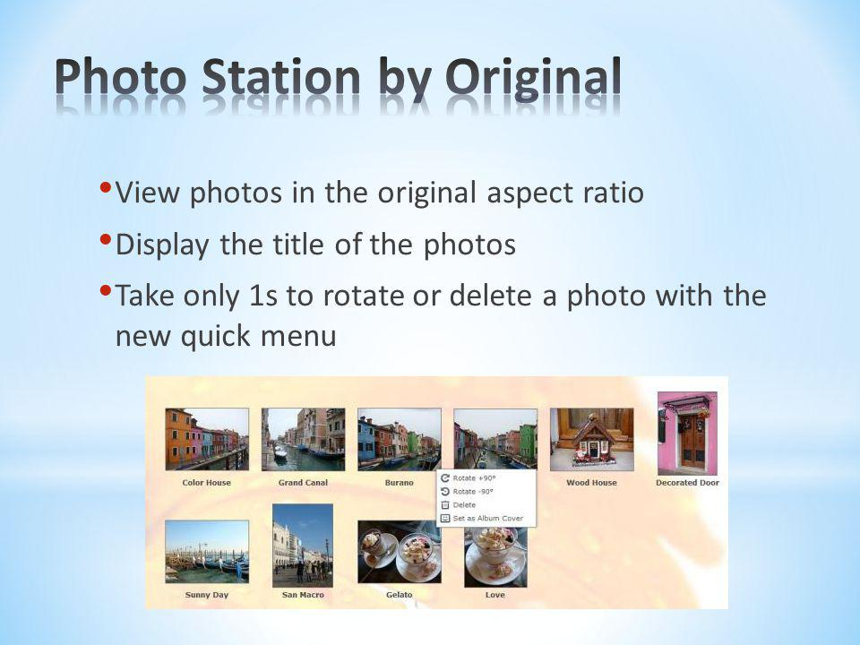 Photo Station by Original