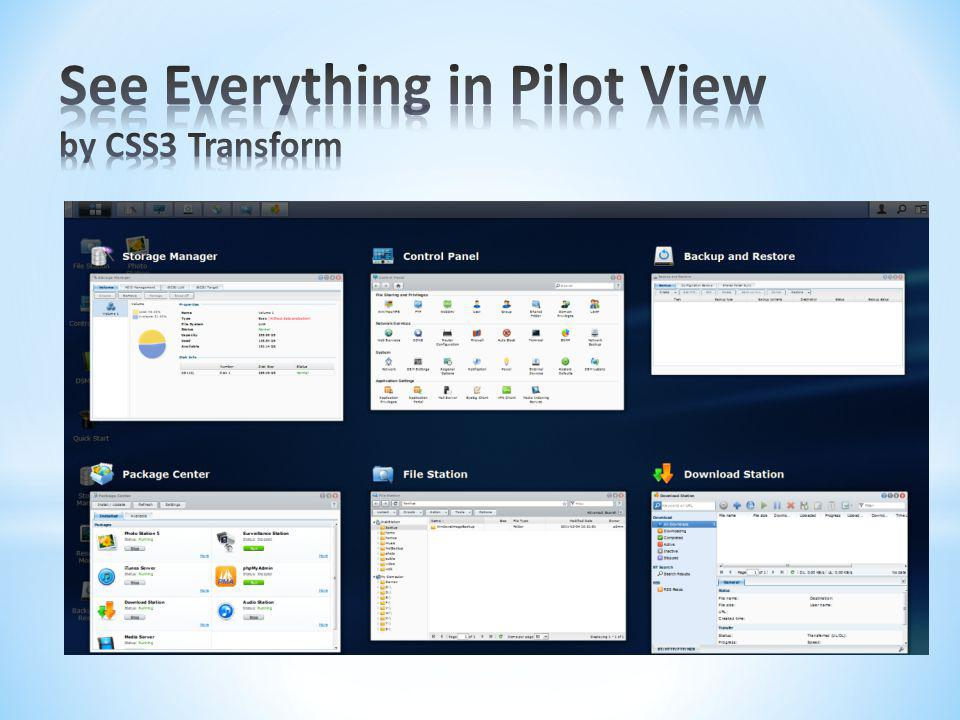 See Everything in Pilot View by CSS3 Transform