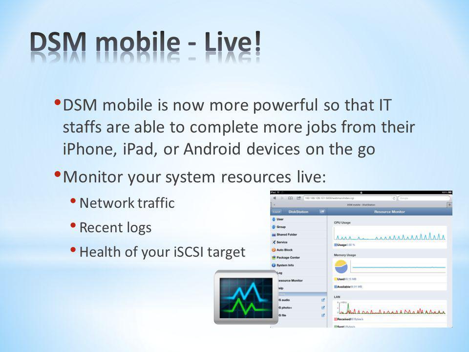 DSM mobile - Live!